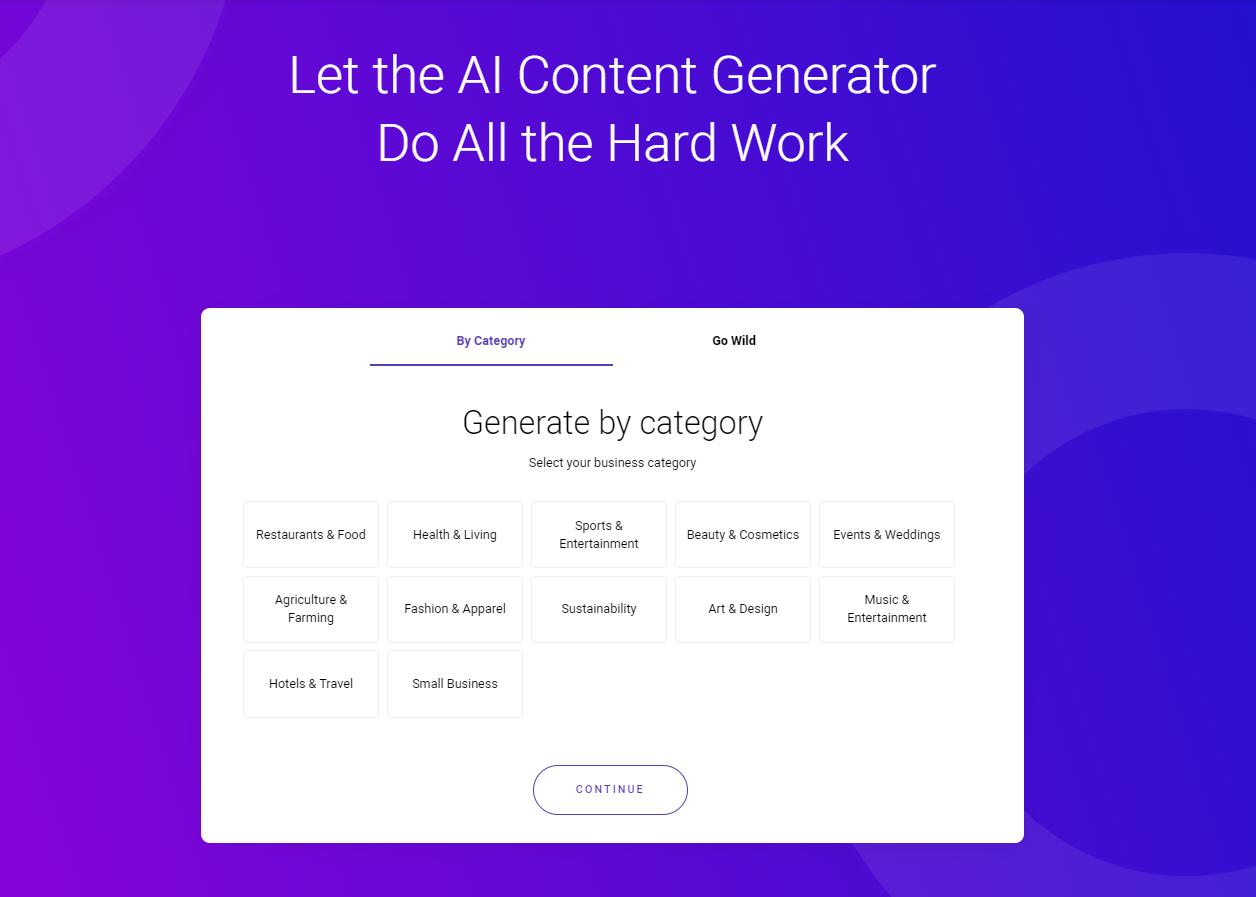 zyro ai content generator