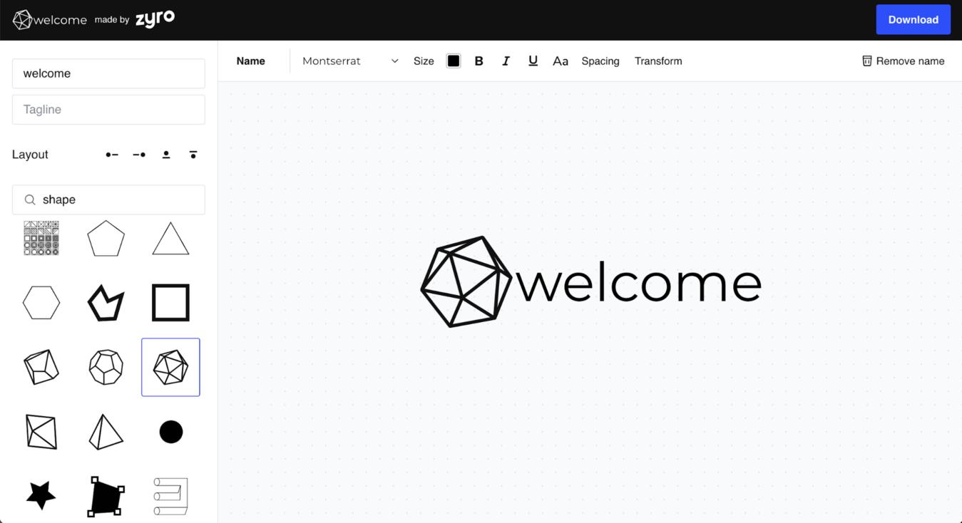 zyro logo maker fonts