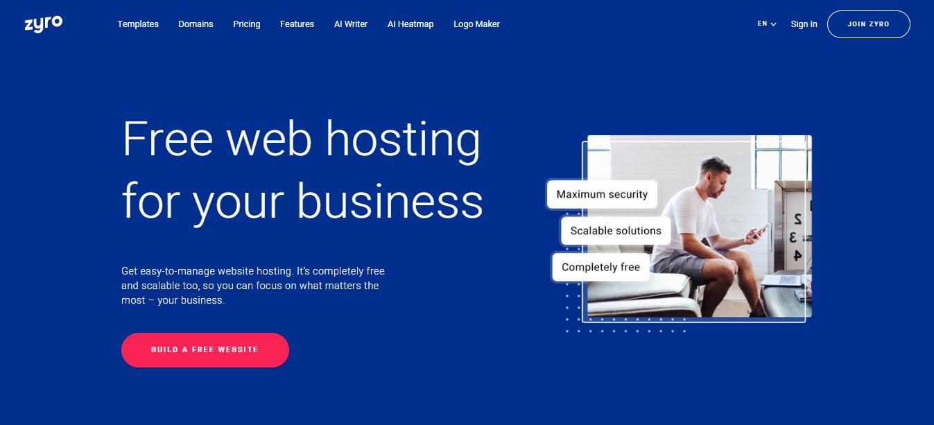 Free web hosting with Zyro