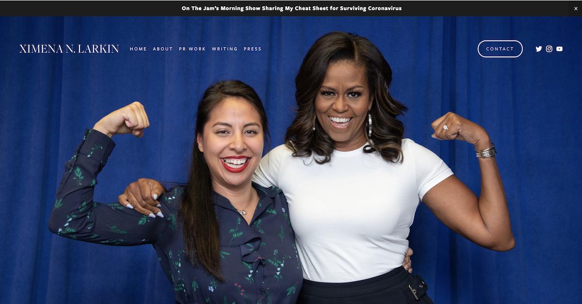 Screenshot from Ximena Larkin resume website