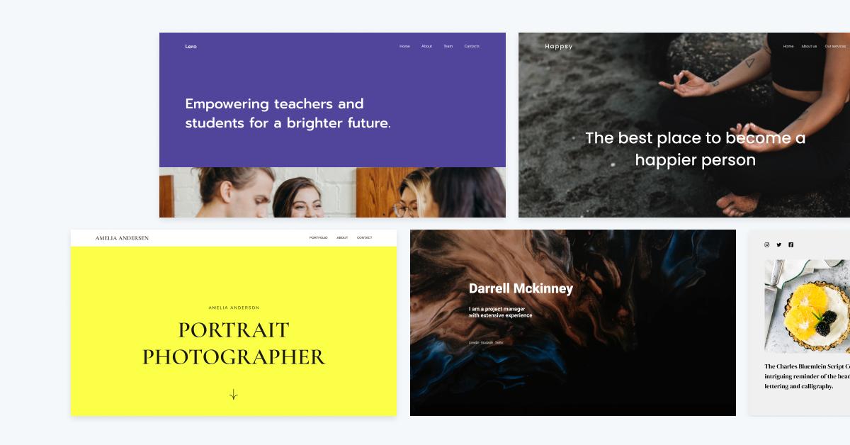 Resume Website Examples Zyro Blog Hero