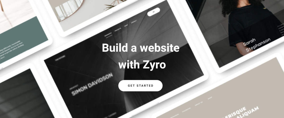 Build a website with Zyro CTA