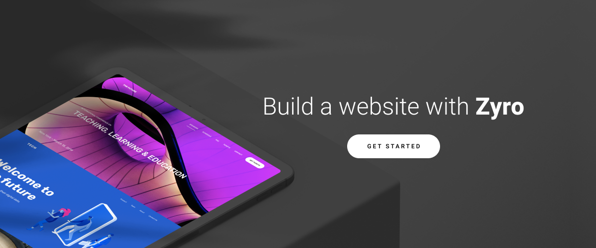 build a website with Zyro call to action