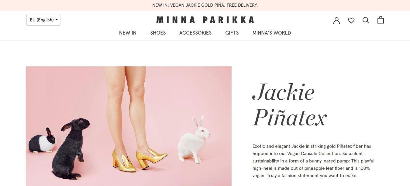 Minna Parikka landing page
