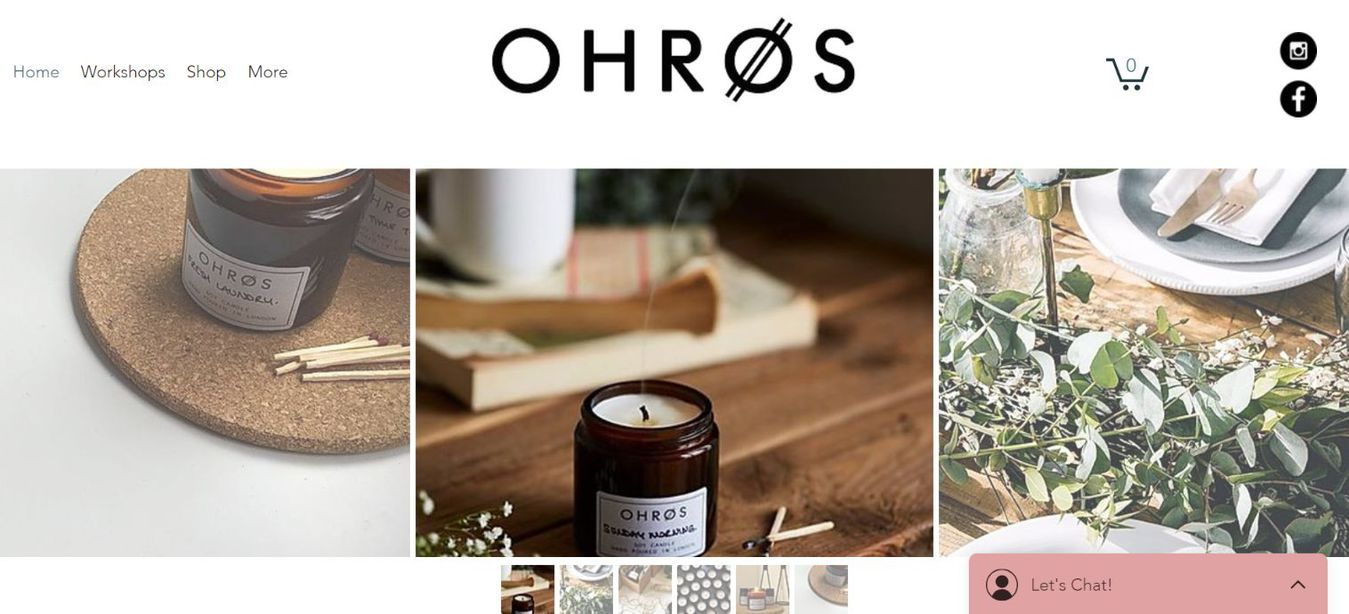 Ohros landing page