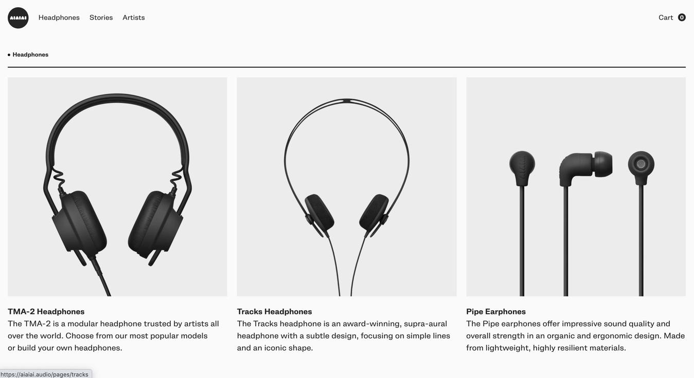AIAIAI Audio Headphones Products Online Store Screenshot