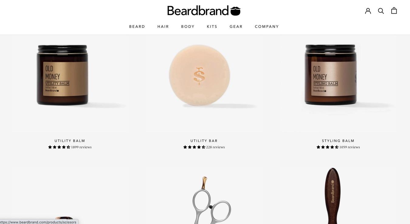 Beardbrand Online Store Screenshot