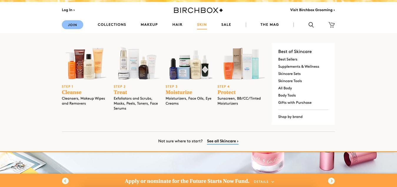 Birchbox Categories Menu Photographs