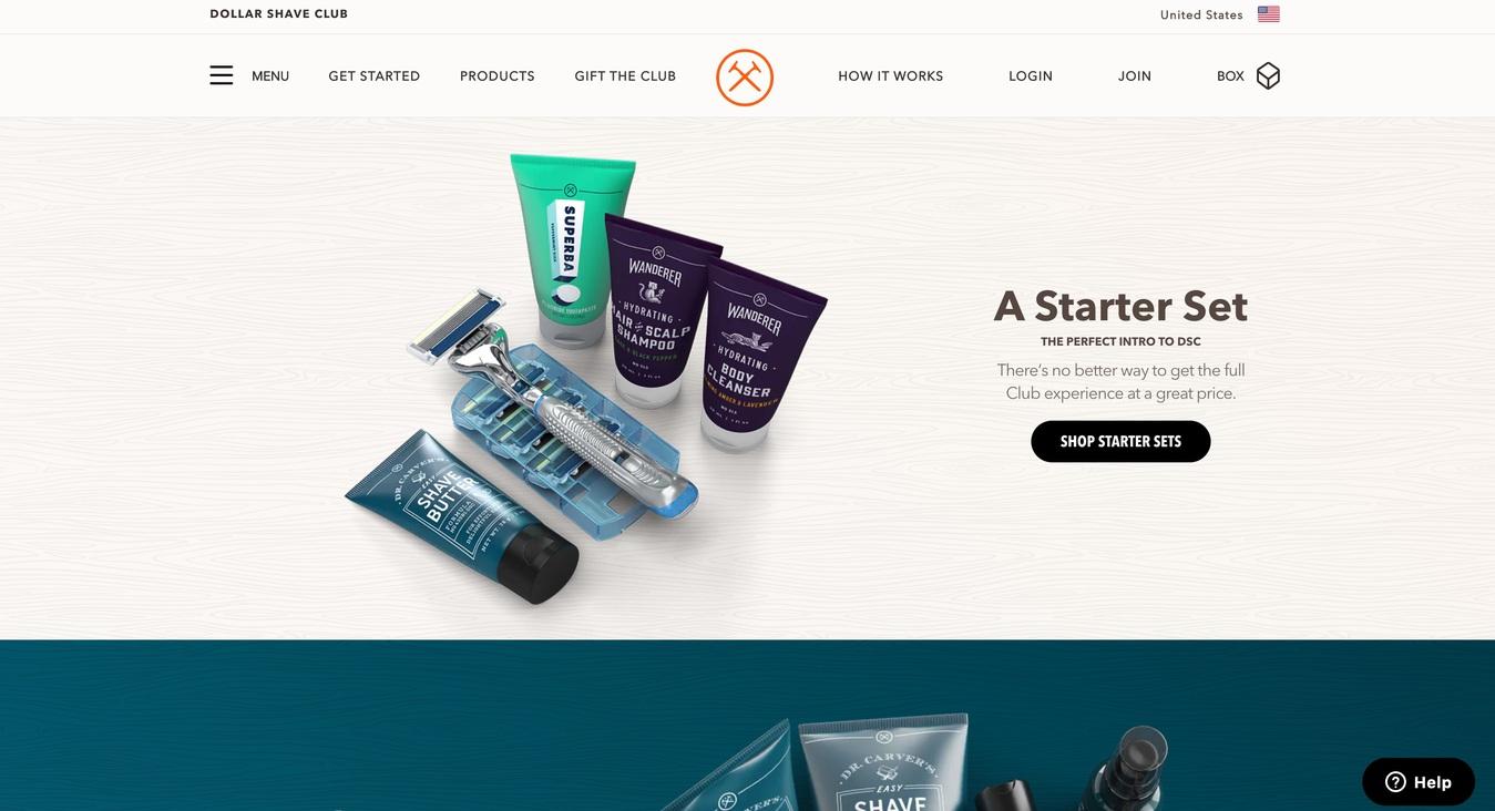 ví dụ về website thương mại điện tử Dollar Shave Club