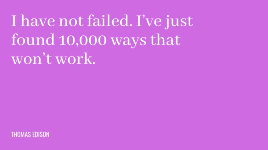 Frases motivacionais de trabalho de Thomas Edison