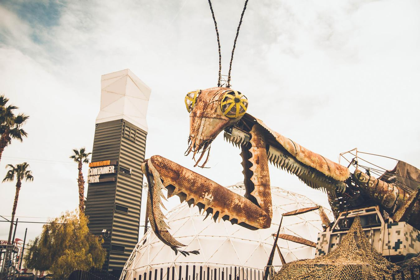 Giant Bug Sculpture From Metal