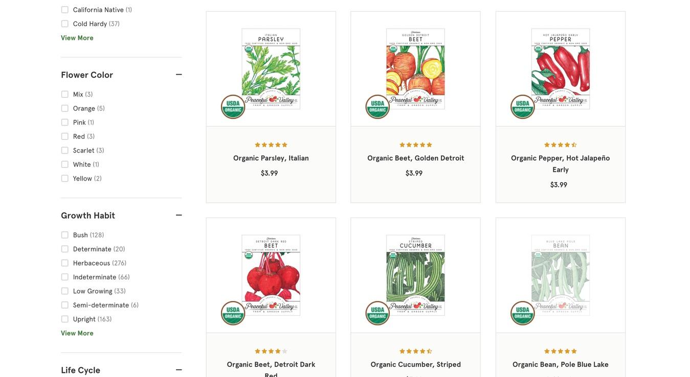 Grow Organic Online Shop Screenshot Products