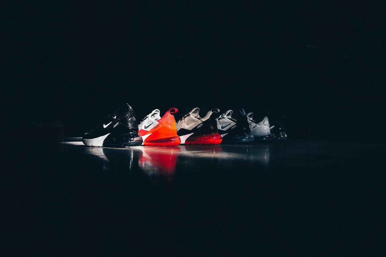 Nike Sneakers Red in Black Background