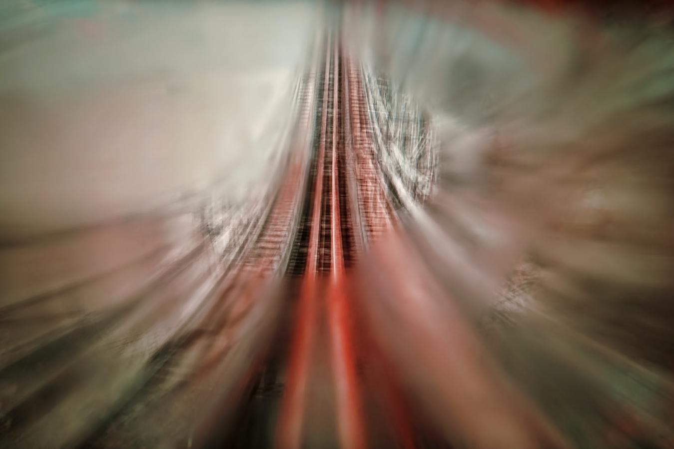 Rollercoaster Upwards Blurry