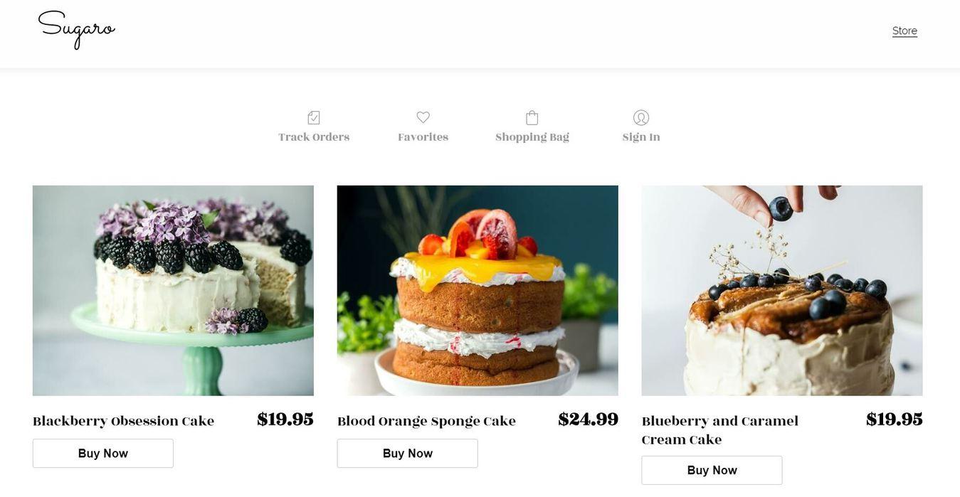 Szablon sklepu internetowego Sugaro –Zyro