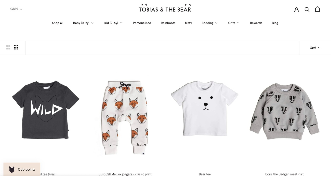 Tobias and the Bear Category Store Screenshot
