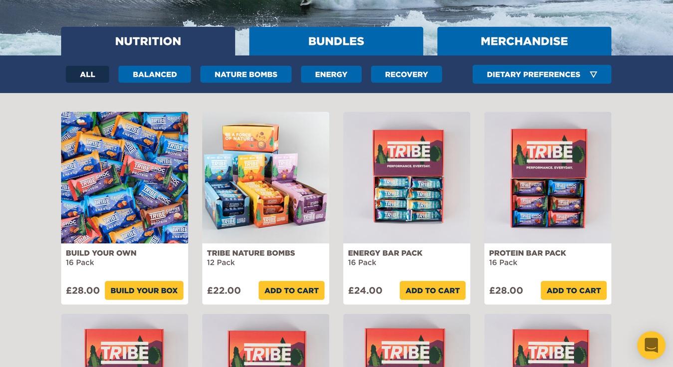 Tribe Sports Nutrition eShop Screenshot