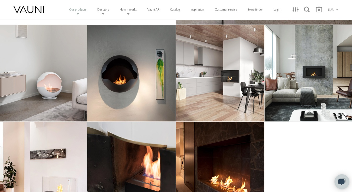 Vauni Product Page Online Store Screenshot