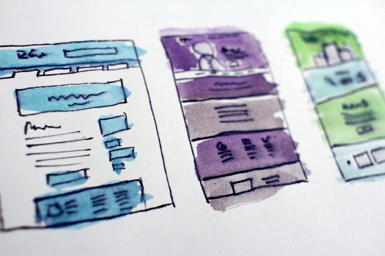 Watercolor frames website design