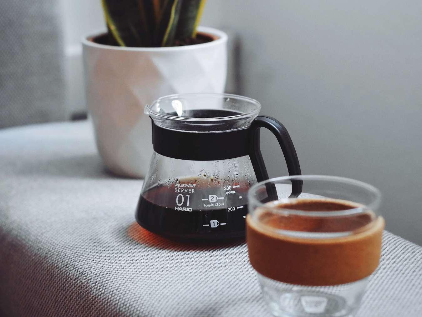 Herbruikbare koffiepot