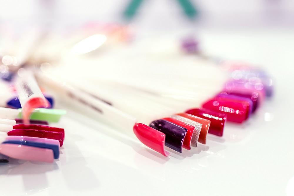 amostras de cores de esmalte