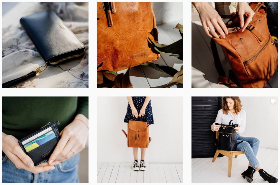 série de fotos de produtos da Berliner Bags