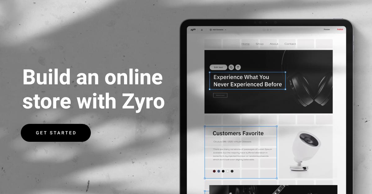 Build Online Store Zyro Banner