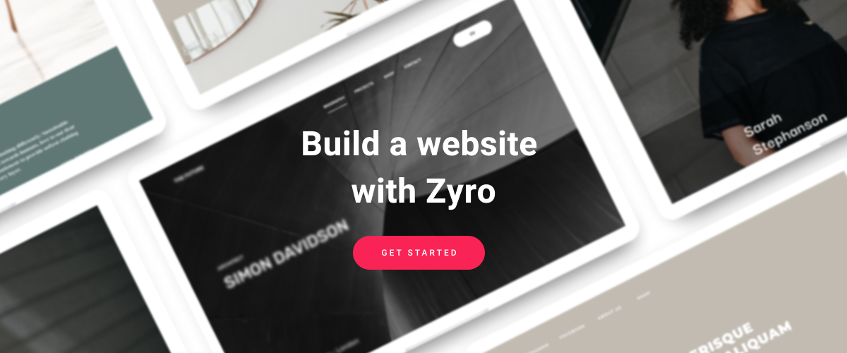 Build a website with Zyro banner