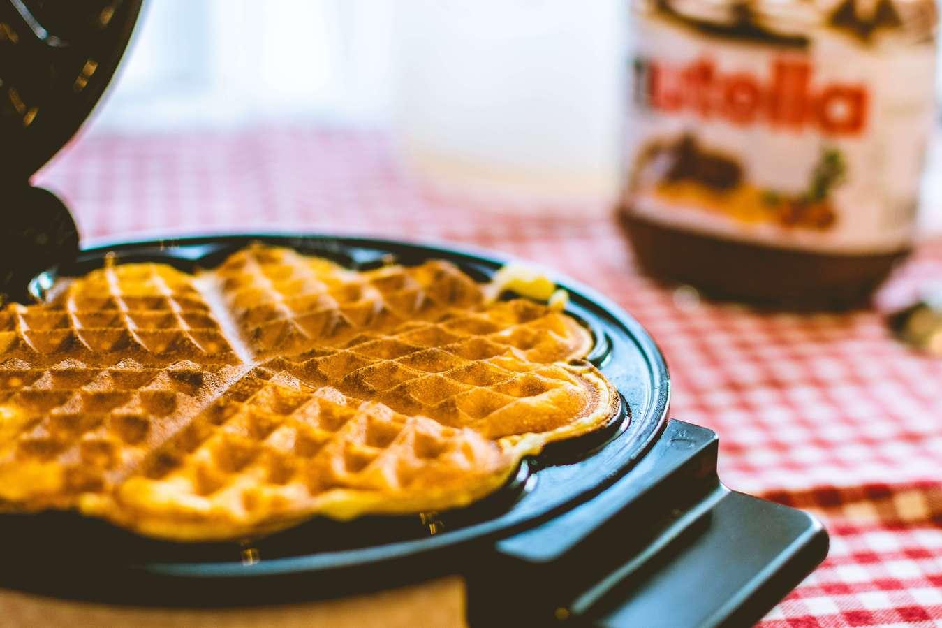 Máquina de fazer waffles