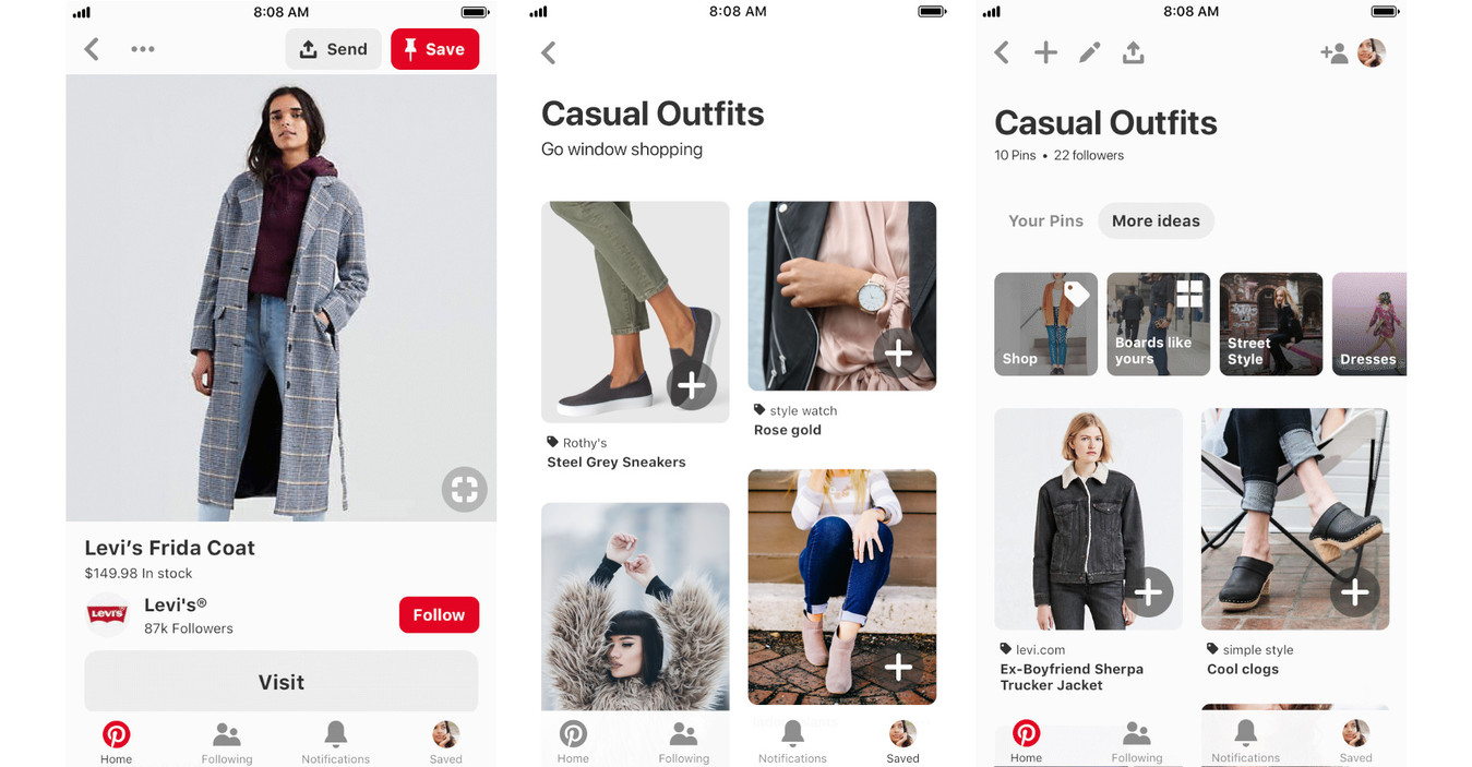 Catalogue Pinterest de mode