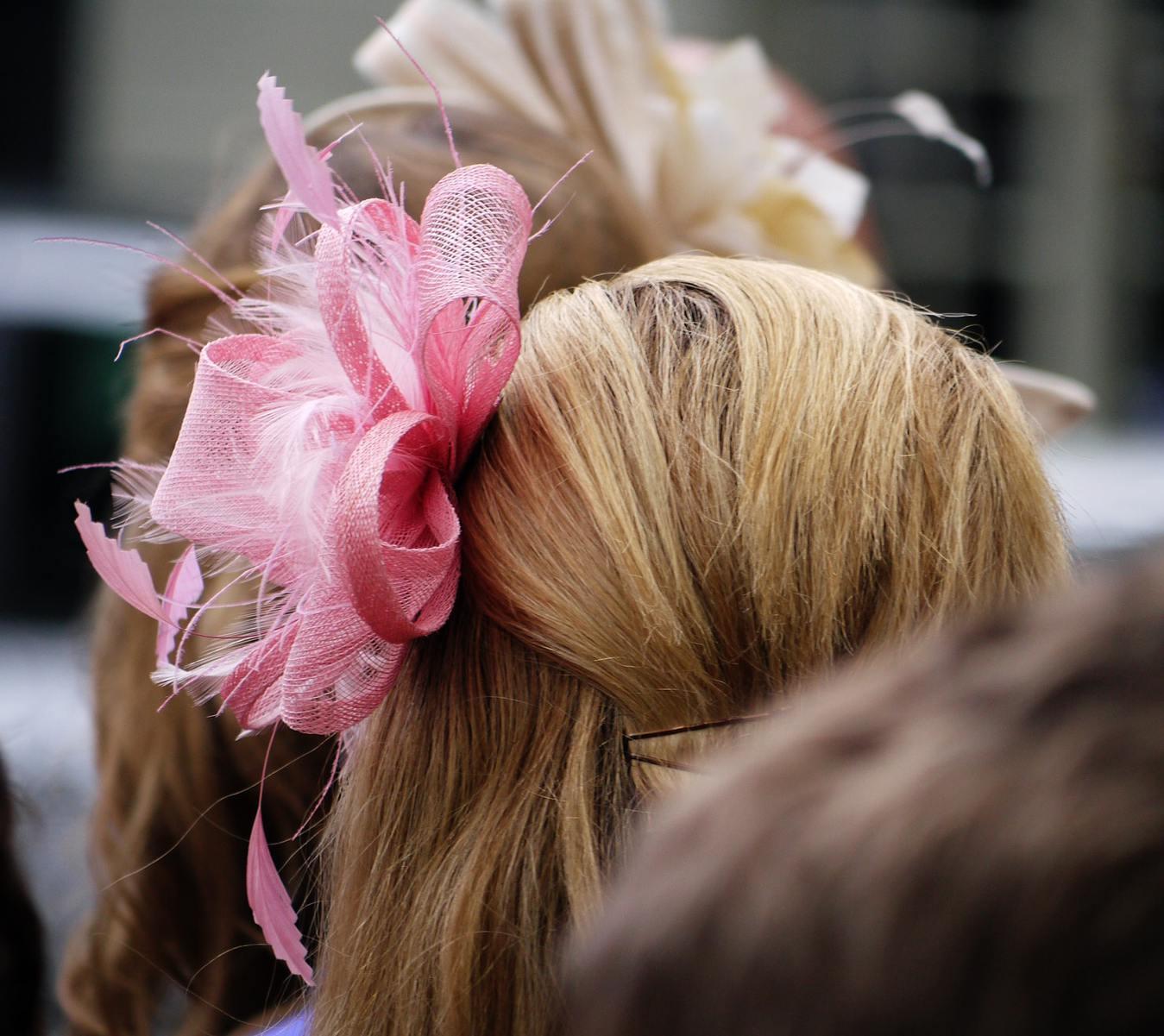 Pink Fascinator Hat Closeup