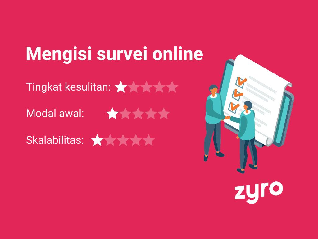 Mendapatkan uang dari internet dengan mengisi survei