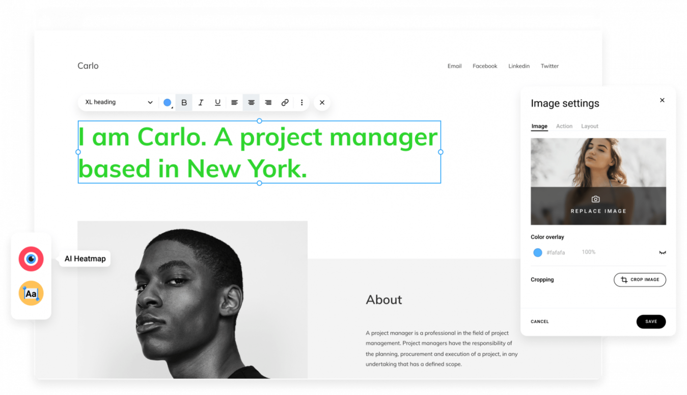 Costruttore sito web Zyro