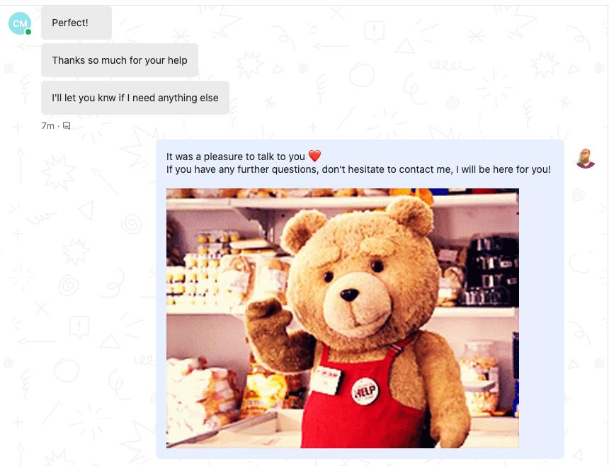 Povilas Customer Success Screenshot