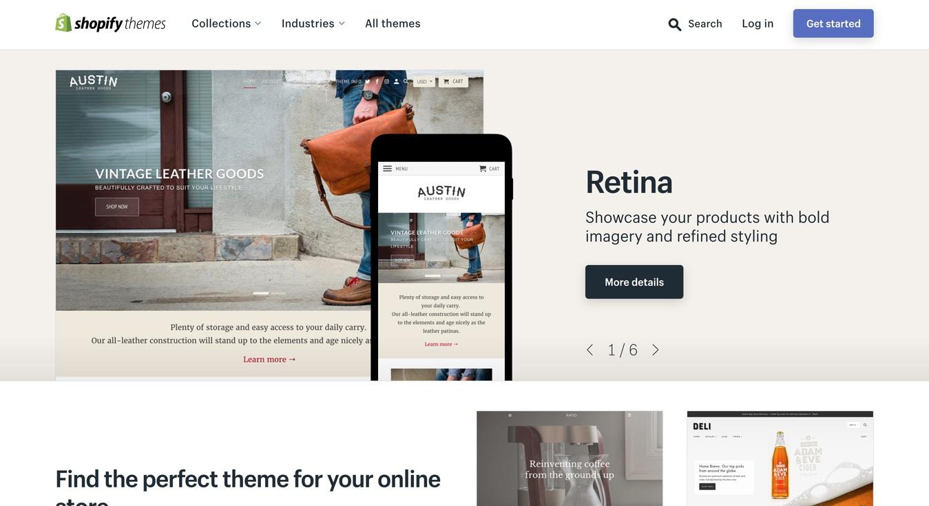 nền tảng thương mại điện tử Shopify builder ảnh màn hình