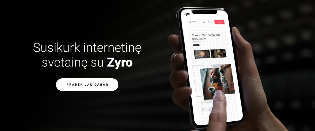 Susikurk svetaine su ZYro - baneris