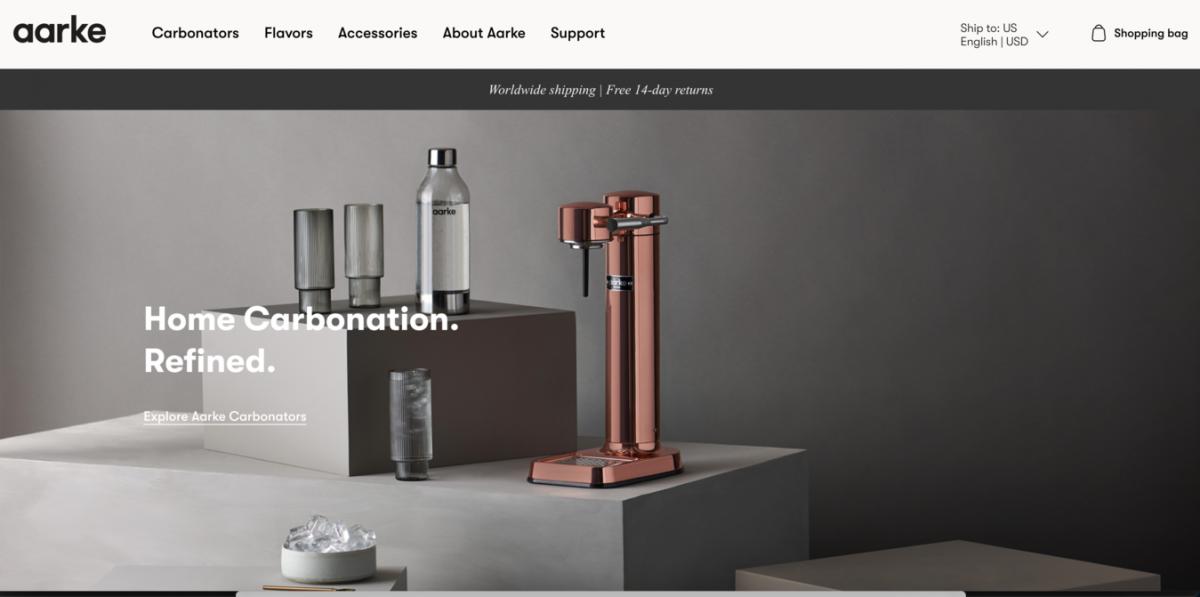 Página inicial do aarke - Ideias para sites lucrativos
