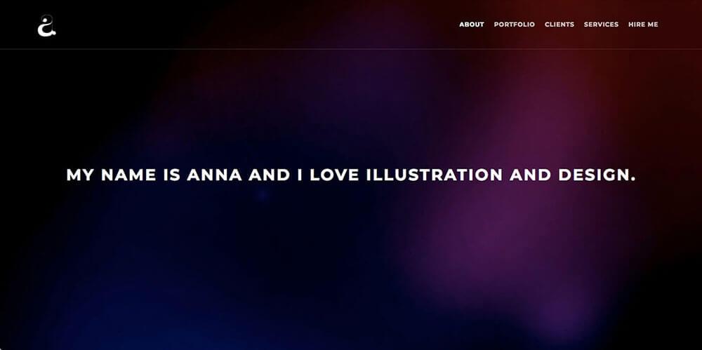 Anna Ellenberger's resume website