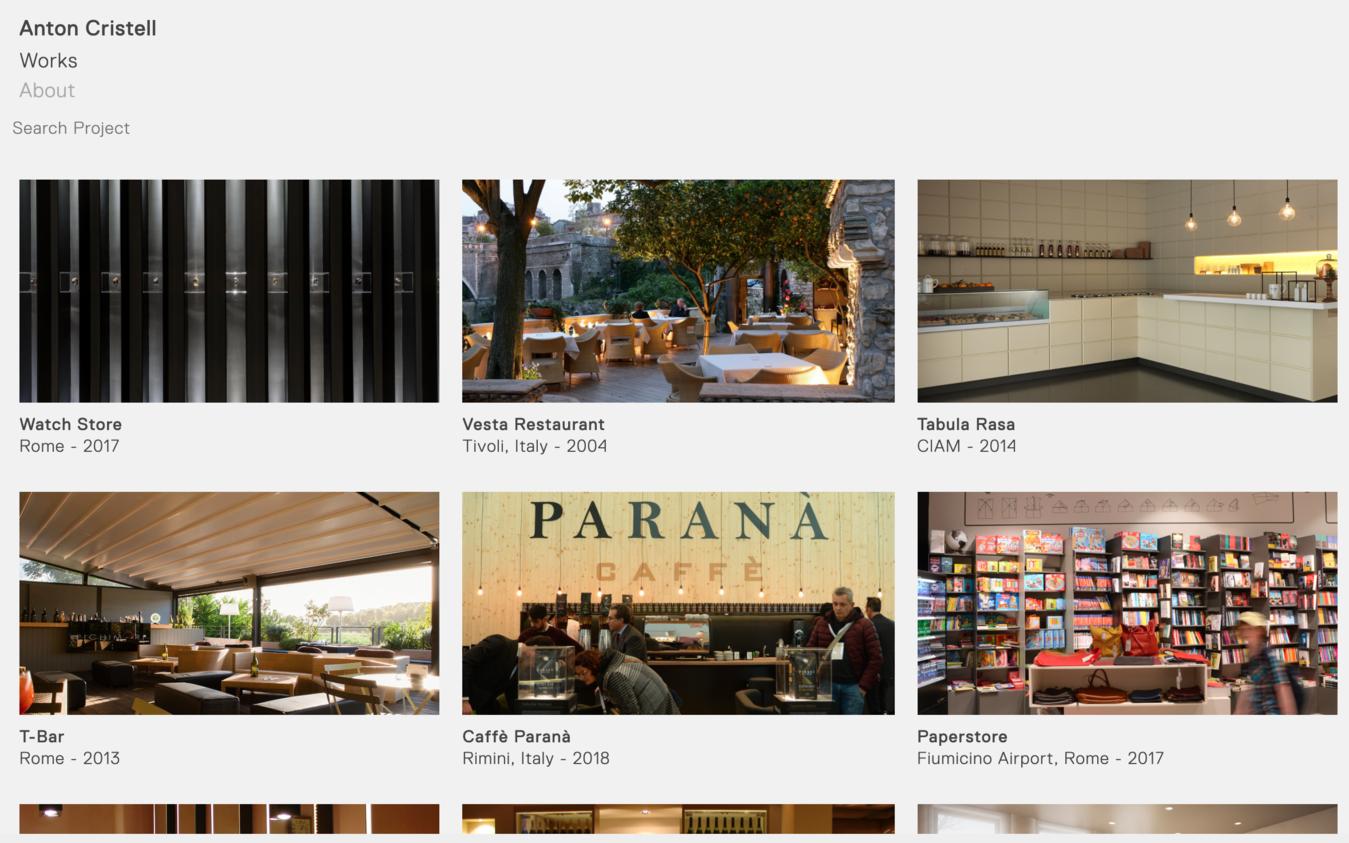 Portfolio Website von Anton Cristell