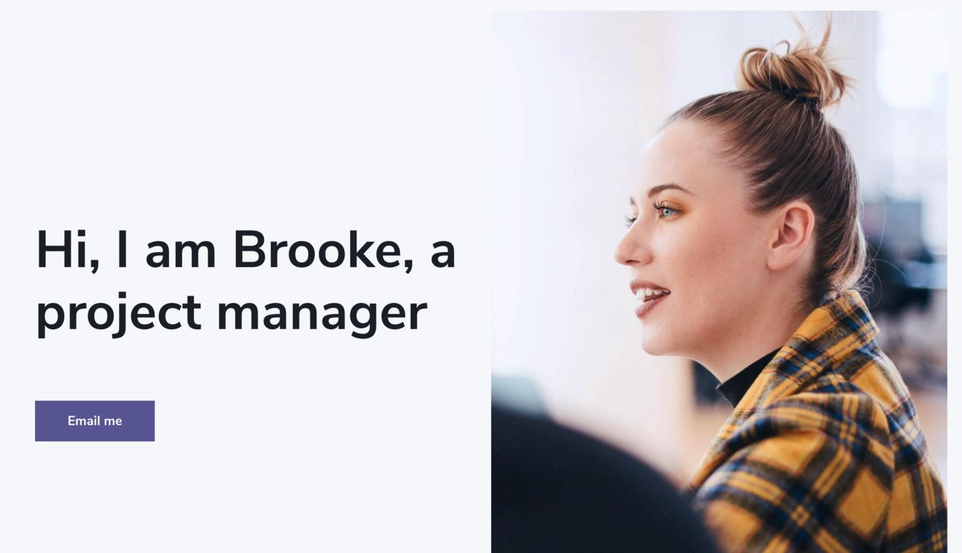Brooke Smith's resume website