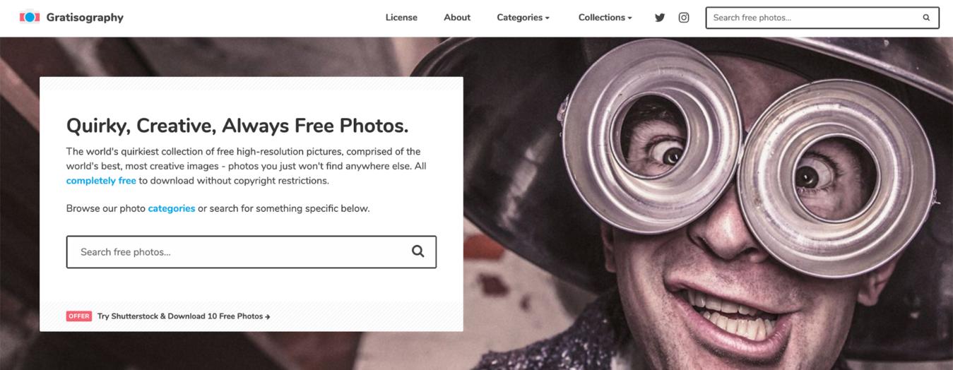 đăng nhập trang ảnh stock miễn phí Gratisography