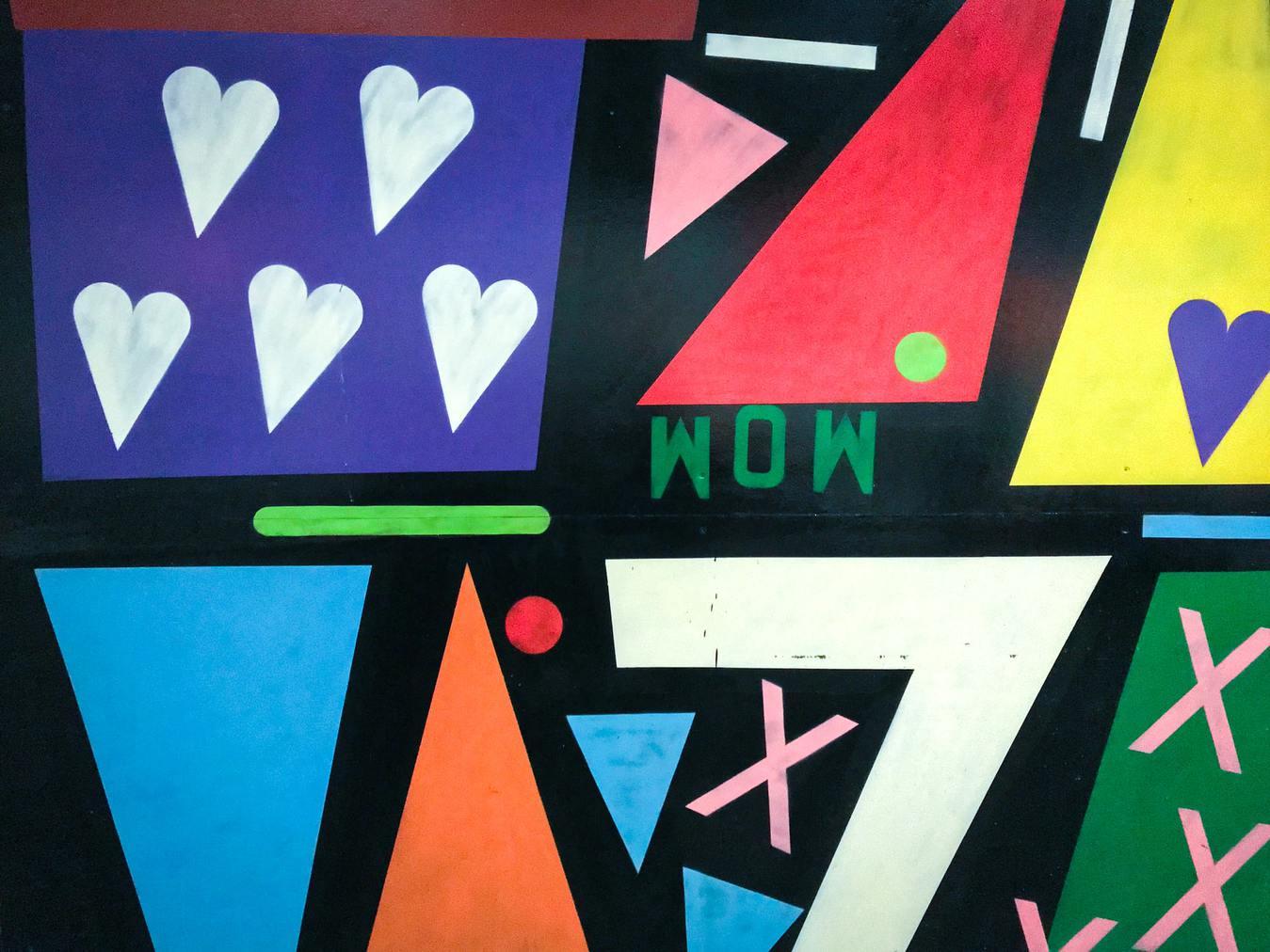 Graffiti che mostrano la scritta wow