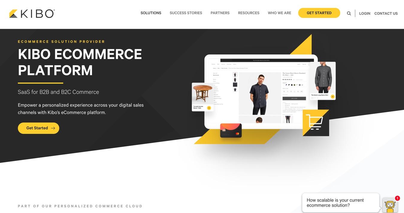 trang thương mại điện tử kibo builder website ảnh màn hình