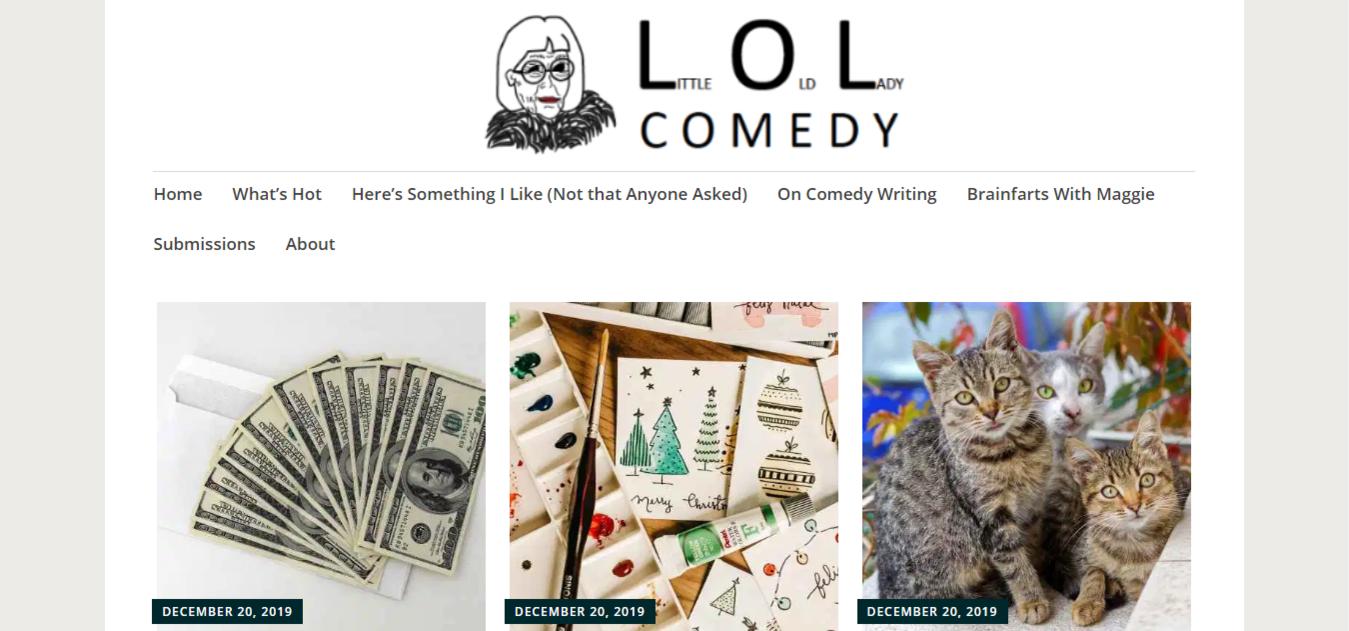 Sito web di Little Old Lady Comedy