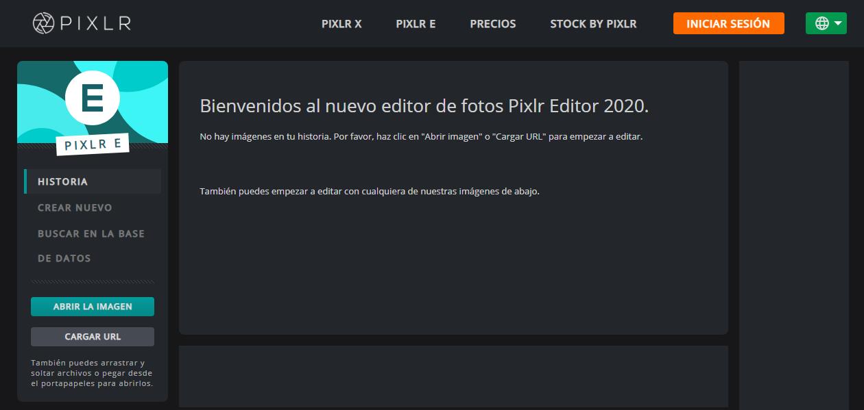 mejor editor de fotos gratis: pixlr