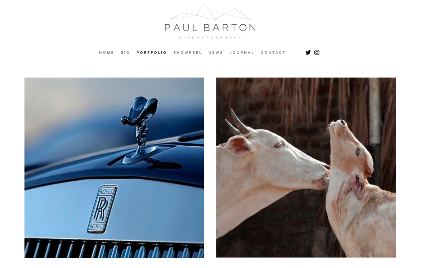 Paul Barton portfolio website