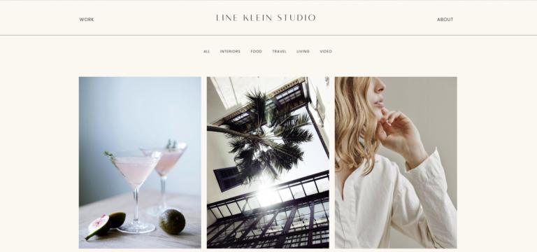 Site de portfólio de Line Klein