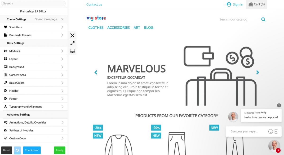 Plataforma de eCommerce Prestashop