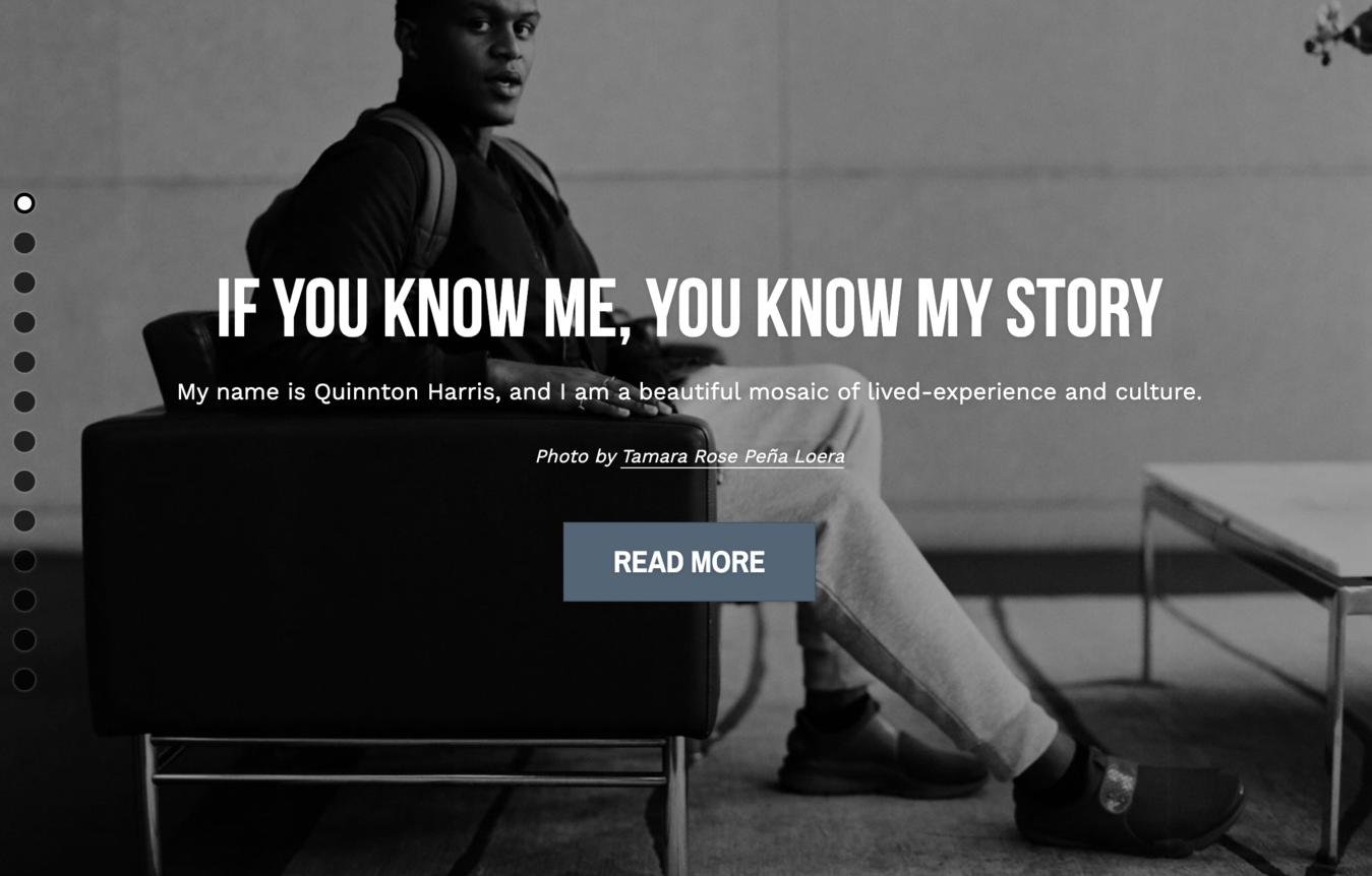 Quinnton Harris's resume website