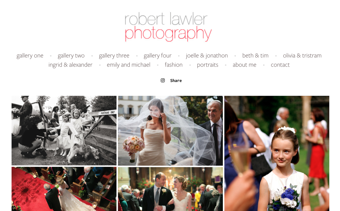 Robert Lawler photography portfolio website